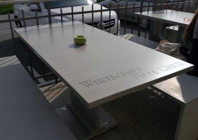 Betontisch 30mm Restaurant aus Hochleistungs-Beton