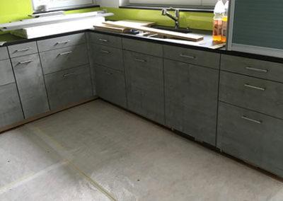 Küchenfront aus Hochleistungsbeton 10mm