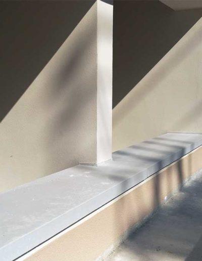 Baustelle: Fensterbank gross